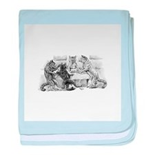 Poker Playing Cats baby blanket