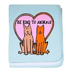 Be Kind To Animals baby blanket