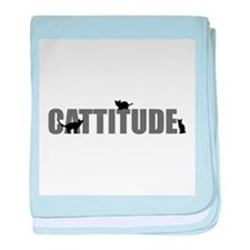 Cattitude baby blanket