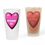 Abyssinian Cat Lover Drinking Glass