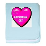 Abyssinian Cat Lover baby blanket