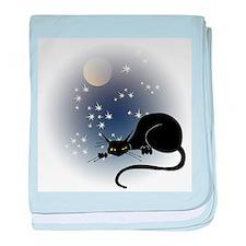 Nocturnal Black Cat II baby blanket