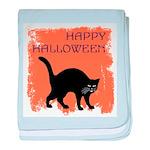 Halloween Black Cat baby blanket