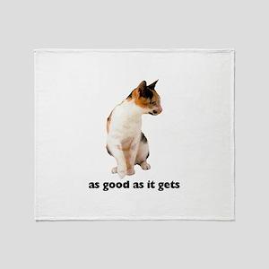 Calico Cat Photo Throw Blanket
