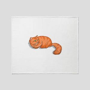 Ginger Cat Throw Blanket