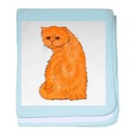 Red Persian Cat baby blanket