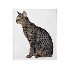 Savannah Cat Throw Blanket