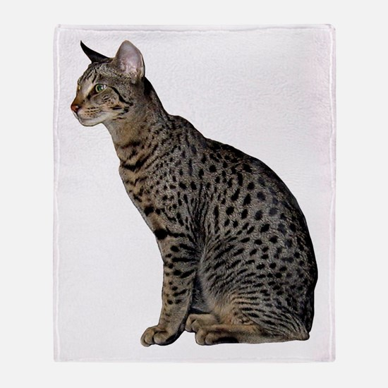 Savannah Cat Throw Blanket