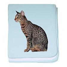 Savannah Cat baby blanket