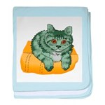 Tabby Cat Drawing baby blanket