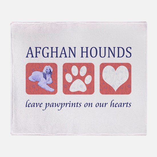 Afghan Hound Lover Throw Blanket