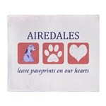 Airedale Terrier Lover Throw Blanket
