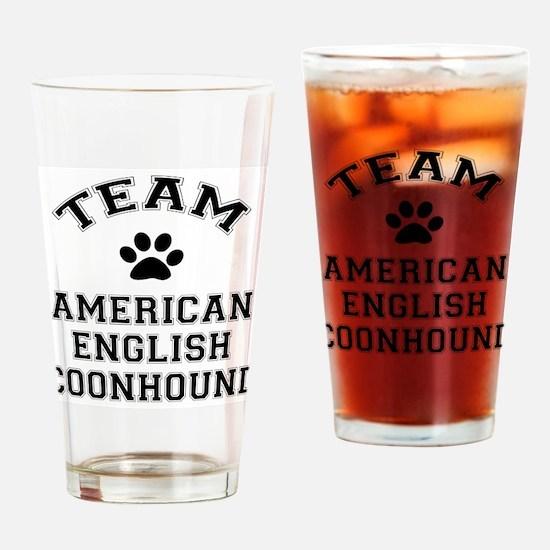 Team Coonhound Drinking Glass