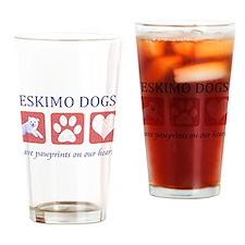 Eskimo Dog Lover Pint Glass