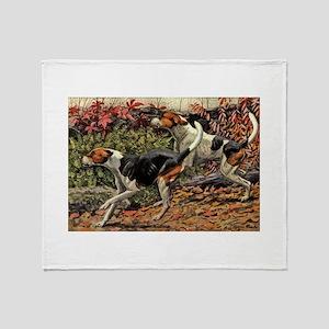 American Foxhound Art Throw Blanket