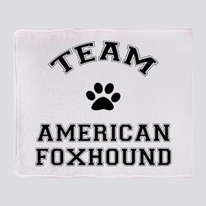Team American Foxhound Throw Blanket
