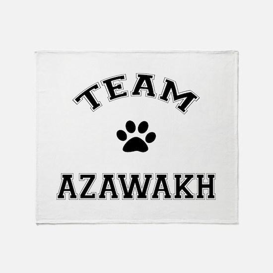 Team Azawakh Throw Blanket