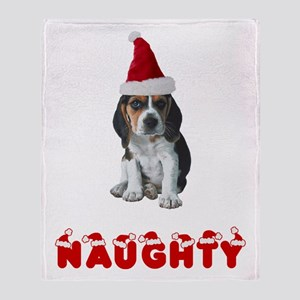 Naughty Beagle Throw Blanket