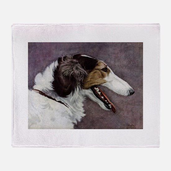 Borzoi Throw Blanket