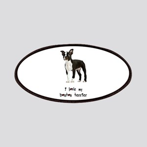 I Love My Boston Terrier Patches