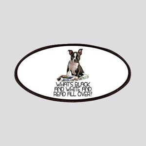 Boston Terrier Riddle Patches