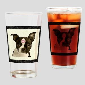 Boston Terrier Kiss Pint Glass