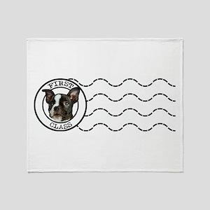 First Class Boston Terrier Throw Blanket