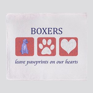 Boxer Lover Gifts Throw Blanket