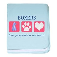 Boxer Lover Gifts baby blanket