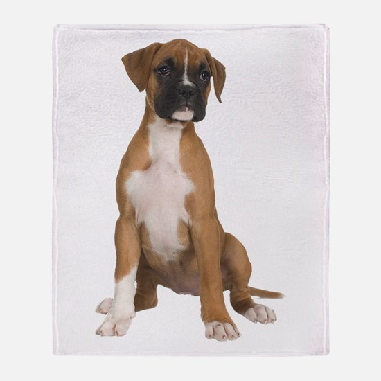 Boxer Puppy Throw Blanket
