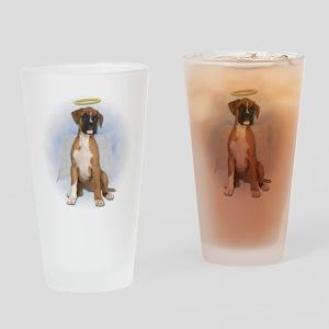 Angel Boxer Puppy Pint Glass