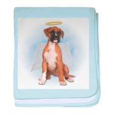 Angel Boxer Puppy baby blanket