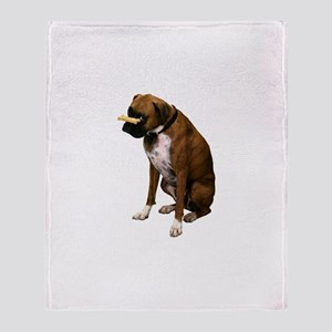 Brindle Boxer Photo Throw Blanket