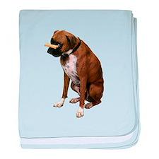 Brindle Boxer Photo baby blanket