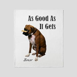 Good Boxer Throw Blanket