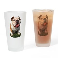Bulldog Photo Pint Glass