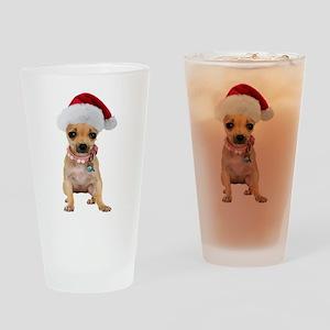 Santa Chihuahua Pint Glass