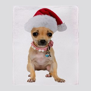 Santa Chihuahua Throw Blanket