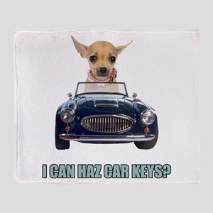 Chihuahua Driving Car Throw Blanket