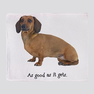 Good Dachshund Throw Blanket