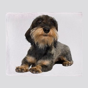 Wirehaired Dachshund Throw Blanket