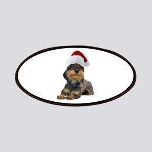 Wirehaired Dachshund Christma Patches
