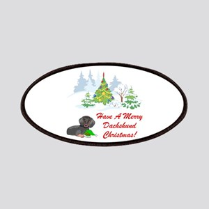 Dachshund Christmas Patches