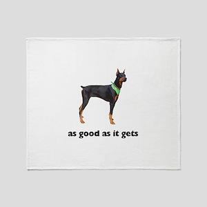 Good Doberman Pinscher Photo Throw Blanket