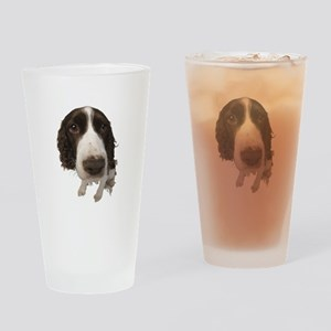 Springer Spaniel Close-Up Drinking Glass