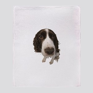 Springer Spaniel Close-Up Throw Blanket