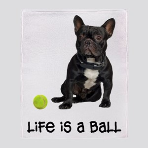 French Bulldog Life Throw Blanket