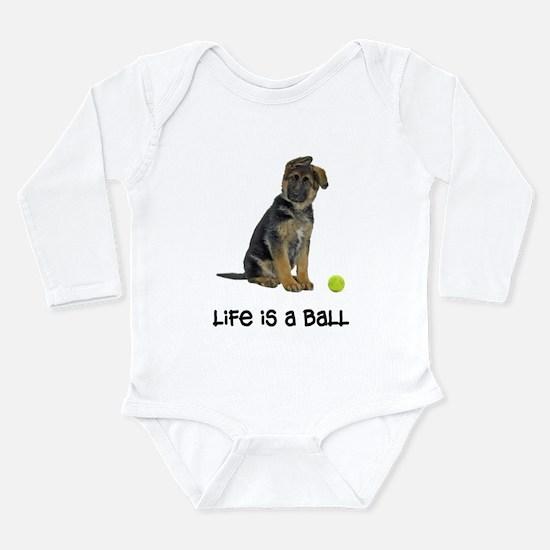 German Shepherd Life Long Sleeve Infant Bodysuit