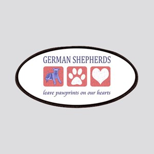 German Shepherd Pawprints Patches