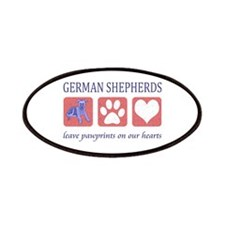 German Shepherd Pawprints Patches